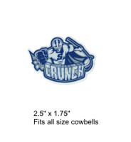 Syracuse Crunch logo decal for any size cowbell