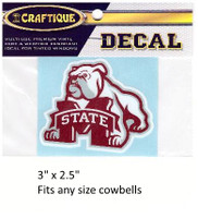 Mississippi St. Decal (Intimidating Bulldog)