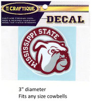 Mississippi St. Decal (Bulldog Face)