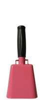 "- 8.5"" from bottom of bell to top of welded handle - 3.5"" wide at the bottom of the cowbell - 2.00"" deep at the bottom of the cowbell - 4.5"" handle length - Vinyl grip - Durable powder coated pink paint"