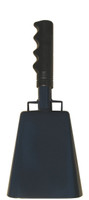 "- 10"" from bottom of bell to top of welded handle - 4.25"" wide at the bottom of the cowbell - 2.50"" deep at the bottom of the cowbell - 5.00"" handle length - Vinyl grip - Durable powder coated navy blue paint"