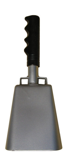"- 10"" from bottom of bell to top of welded handle - 4.25"" wide at the bottom of the cowbell - 2.50"" deep at the bottom of the cowbell - 5.00"" handle length - Vinyl grip"
