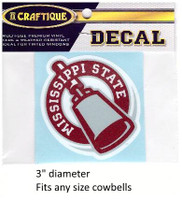Mississippi St. Decal (Cowbell)