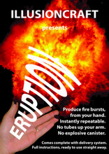 Eruption Jets of fire from your hand
