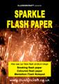 Sparkle flash paper