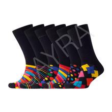 Ayra - Mens Retro Odd Stripe and Sports Sock, Size 6-11
