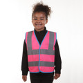 Children's High Visibility Vests (Yellow, Orange, Pink, Blue, Red & Purple)