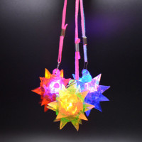 48 Flashing Jelly Star Necklaces