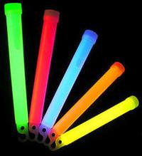 """100 Mix Large 6"""" Glowsticks with lanyard"""