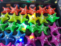 36 Flashing Starfish Rings