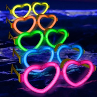 24 Glowstick Heart Glasses