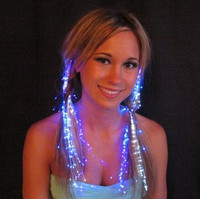 Fibre Optic Lite Hair Extensions