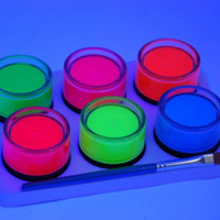 UV Neon Face & Body Paint 6 Pack