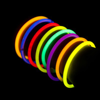 100 Glowstick Bracelets with Connectors