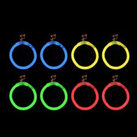 20 Pairs Glowstick Clip On Hoop Earrings