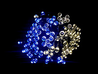 120 Solar Dual Colour LED Fairy Lights String