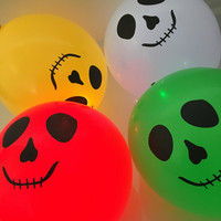5 Ghost Face Balloons