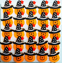 25 Flashing Pumpkin Badges