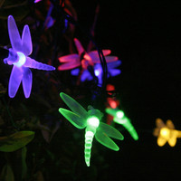 Solar LED Dragonfly String Lights