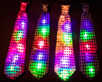 12 Flashing LED Disco Ties