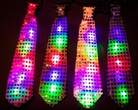 12 Flashing LED Disco Ties