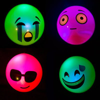 24 Squishy Flashing Emoji Balls