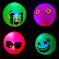 24 Squishy Flashing Emoji Balls