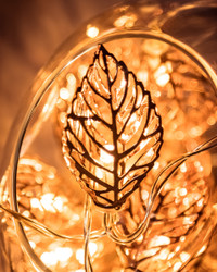 Leaves Copper Tone Fairy Lights