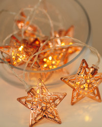Stars Copper Tone Fairy Lights