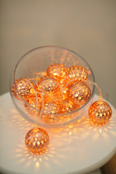 'Moroccan Balls' copper tone Fairy Lights
