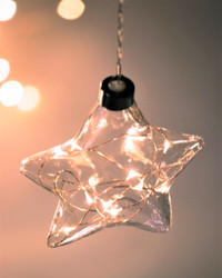 Star Hanging Glass Light