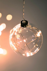 Small Sphere Hanging Glass Light