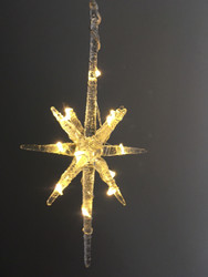 10 Point Hanging Glass Star