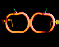 24 Pumpkin Glowstick Glasses
