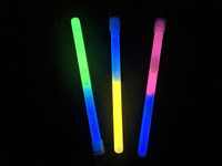 "50 Mix Dual Colour 6"" Glowsticks with lanyard"
