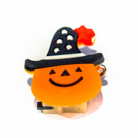 Flashing Pumpkin Badge