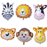 24 Animal Foil Balloons
