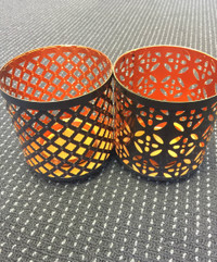 Metal Candle Holder x 2 (FREE SHIPPING)