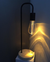 Table Lamp with Edison Style Bulb