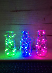 (SET OF 5) 2m AA Silver Seed Lights