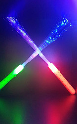 24 Multi Colour Fibre Optic Wands