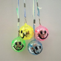 48 Flashing Smiley Face Necklaces