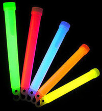 "25 Mix Large 6"" Glowsticks with lanyard"