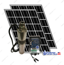 "Tuhorse 3"" 500W solar pump kit with 2 solar panels"