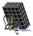 "Tuhorse 3"" 500W solar pump kit with 4 solar panels"