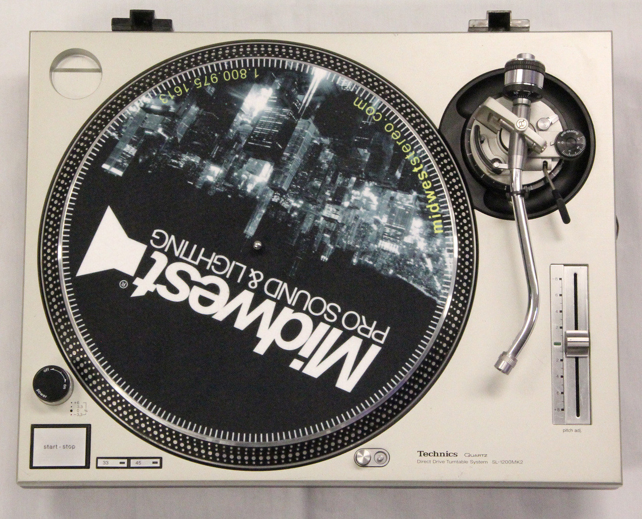 technics sl 1200mk2 turntable used midwest pro sound and