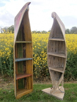 Boat Shaped Storage Shelves from Chairs and Tables