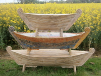 Boat Shaped Storage Boxes from Chairs and Tables