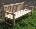 Southwold Deluxe Straight Back 6ft Teak Bench