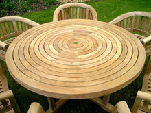 Turnworth 150cm Teak Ring Table with Integrated Lazy Susan
